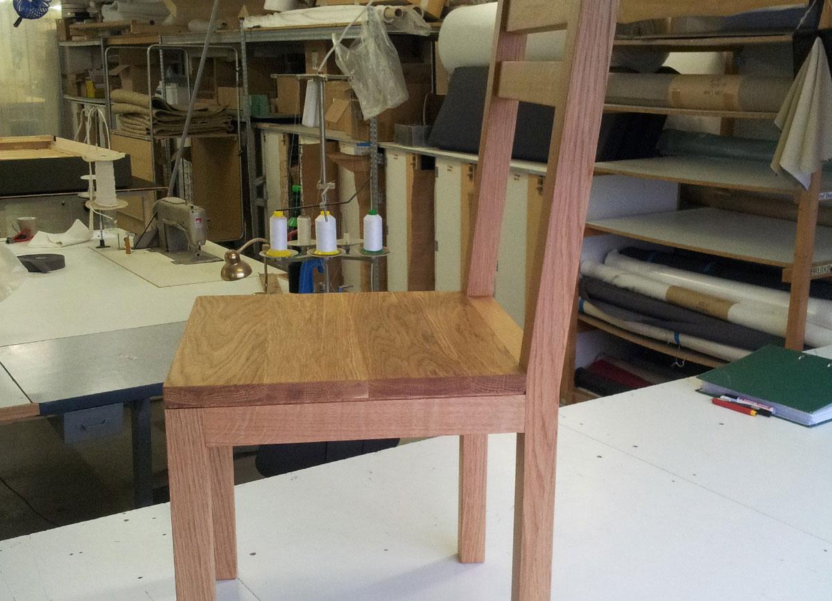 Keuken Design Enkhuizen : Eetkamer stoel van massief eikenhout – Hout en Meubeldesign Enkhuizen